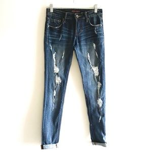 CULT OF INDIVIDUALITY distressed jeans size 25